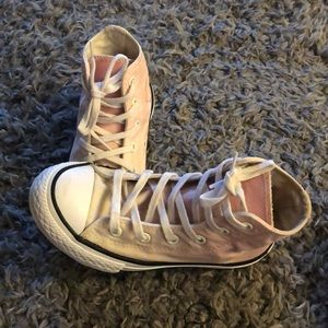 Girls size 13 converse. White and pink ombré